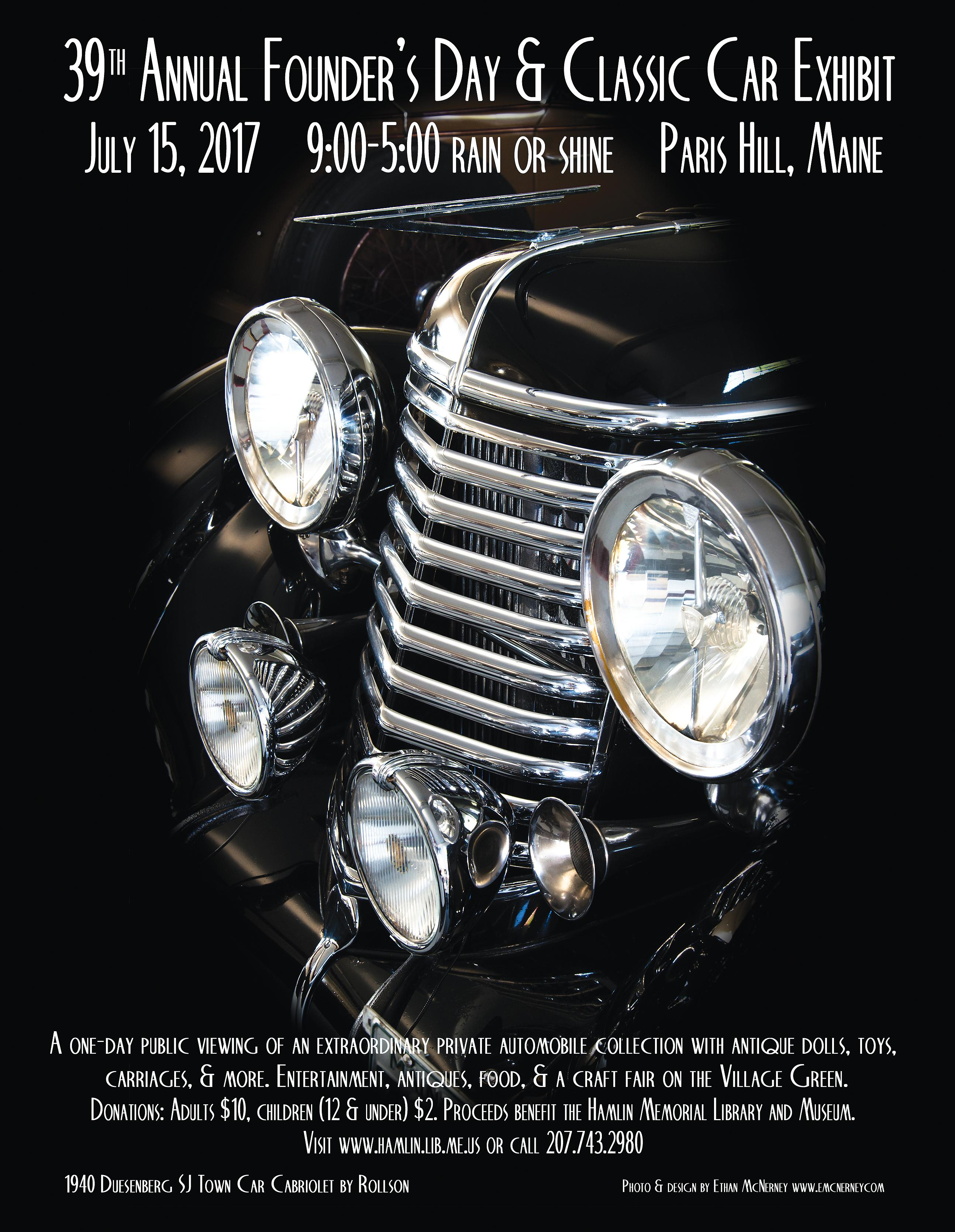 Annual Founders Day  Classic Car Exhibit - Classic car museums in usa
